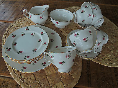 Colclough China Fragrance 7433 Rosebuds 21 Pieces Tea Set Cup Saucer Plate etc