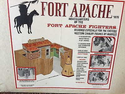 Vintage Rare Marx FORT APACHE Playset Johnny Best Of The West CUSTER COMPLETE