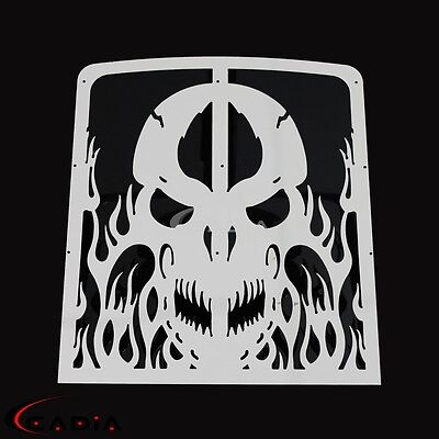 For Yamaha Banshee 350 Radiator Grille Grill Guard Cover Shroud Protector Skull