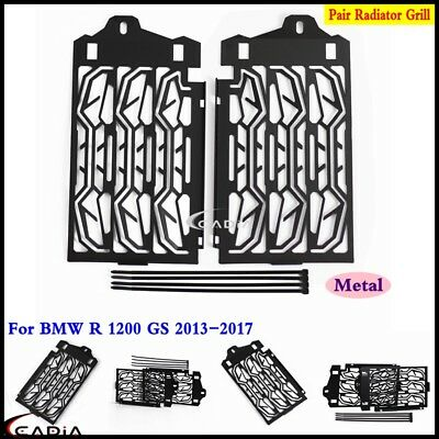 1 Pair Black Radiator Cooler Grill Guard Cover Caps Fits BMW R 1200 GS 2013-2016