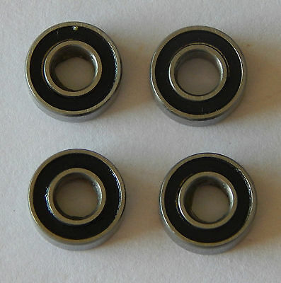 Set of 4 rubber sealed 1150 Bearings, 4pcs 5x11x4mm, perfect for Tamiya cars