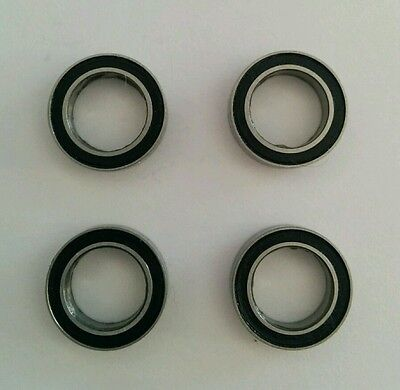 Set of 4 rubber sealed 1280 Bearings, 4pcs 8x12x3.5mm, perfect for Tamiya cars