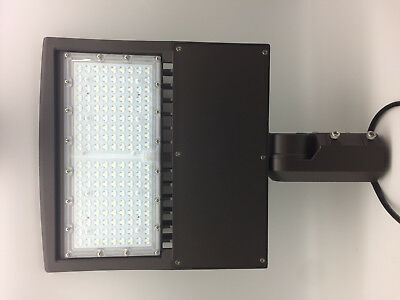 Shoe box 150w LED Parking Lot Light Fixture UL DLC approved - Direct Yoke Adjust