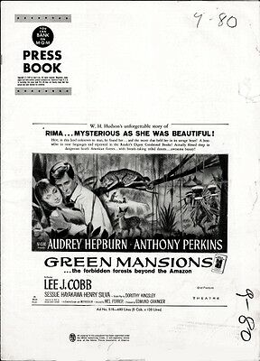 GREEN MANSIONS pressbook, Audrey Hepburn, Anthony Perkins, Lee J Cobb