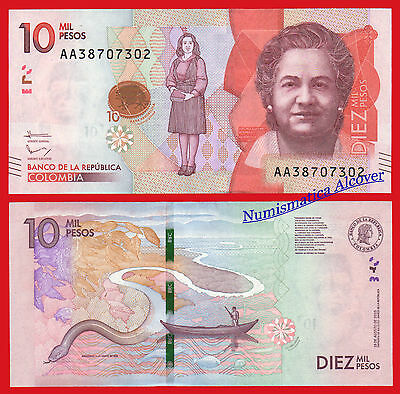 COLOMBIA 10000 Pesos 2015 (2016) Pick new AA SC / UNC