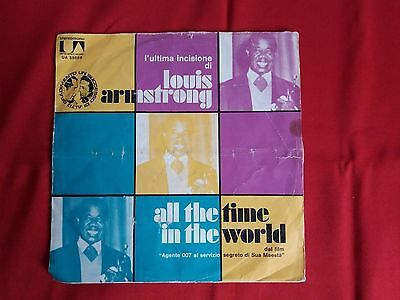 Disco 45 giri L. ARMSTRONG All the time in the World / Pretty little UNITED 1971