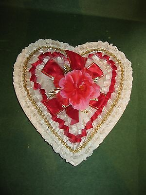 vintage valentines day heart candy box whitmans chocolate