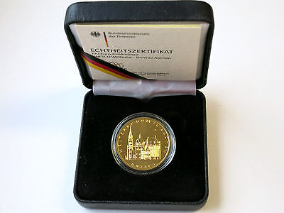 100 Euro BRD 2012 - Dom zu Aachen Unseco Welterbe Gold st ,, A ,,
