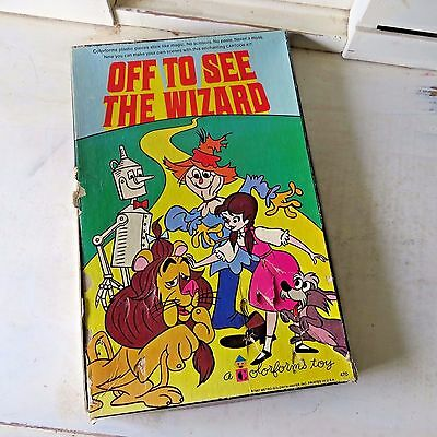 OFF TO SEE THE WIZARD OF OZ Colorforms Play Set Vintage 1967 RARE