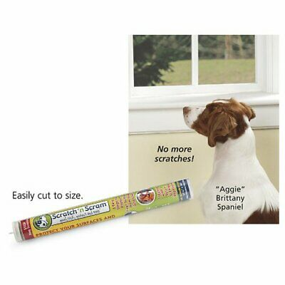 Scratch N Scram - Stops Dog Scratches on Doors. Protects Surfaces. Peel, Stick