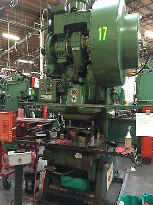 100 ton Federal punch press, #8. Under power.