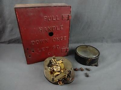 Vintage Gamewell Fire Alarm Telegraph Co NY Box, Parts & Guts Lot for Repairs