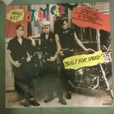 """stray cats lp - build for speed french 4 track 12"""" lp"""