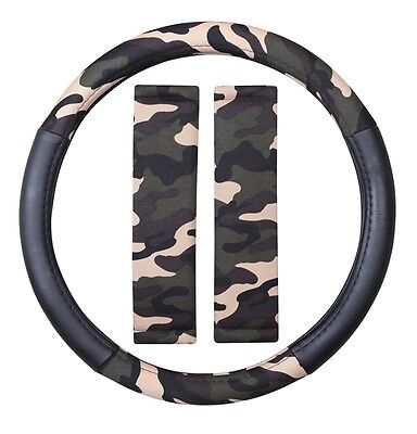 COSMOS Steering Wheel Cover & Seat Belt Pads - Camouflage - 52835