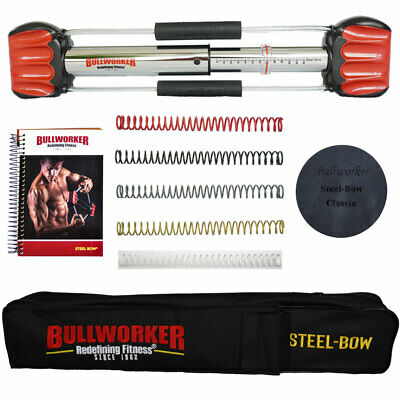 Steel-Bow Compact Bullworker - Ultimate Portable Home Gym w/ Free Carrying Case