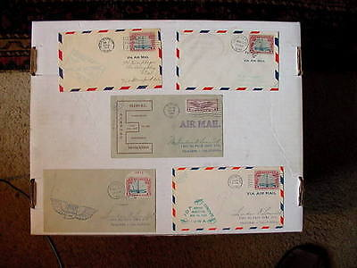 1928-1931 LOT Of (5) Classic US Air Mail Airport Dedication COVERS + Very Fine!