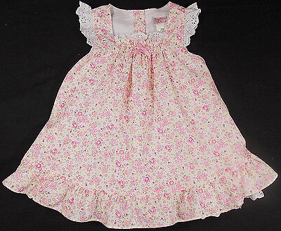 Baby girl dress summer floral broderie anglaise 12 months BNWOTS