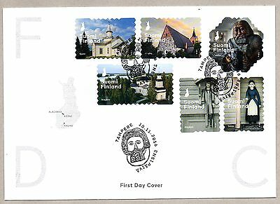 > Suomi Finland 2016 Fdc Churches And Statues