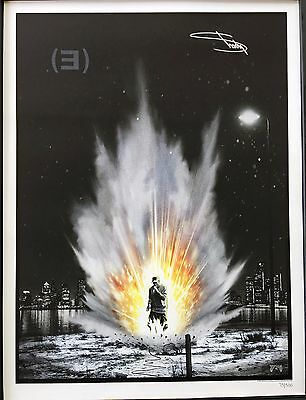 Eminem Signed Slim Shady Autographed Recovery Lithograph Hand Signed Poster Rare