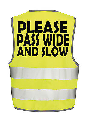 Pass Wide & Slow Horse Hi Visibility Vest Equestrian Safety Tabbard Waistcoat