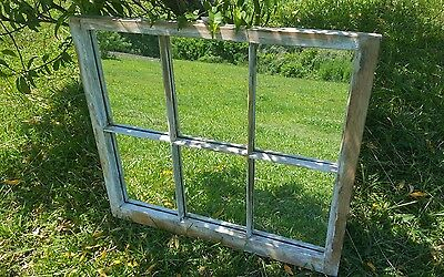VINTAGE SASH ANTIQUE WOOD WINDOW PICTURE FRAME PINTEREST MIRRORS PANES 32x28