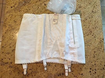 Vintage 1970s Unused Rago 333 White Open Bottom Girdle