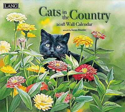 Cats In The Country - 2018 Deluxe Wall Calendar - Brand New - Lang Art 1899