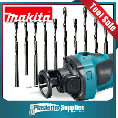 "Makita Industrial 1/8"" Cut-Out Bits x10 To Suit Makita DCO180Z Cut-Out Tool"