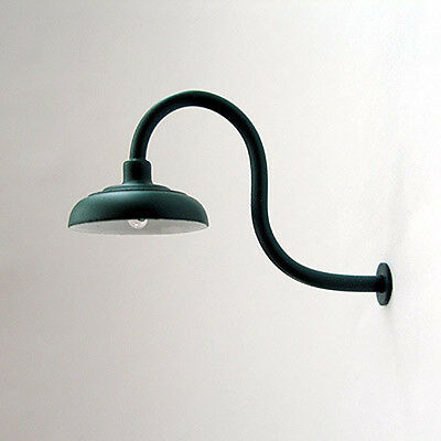 G-Scale Model Train Building/Depot/Station Gooseneck Lamp/Light Green NEW