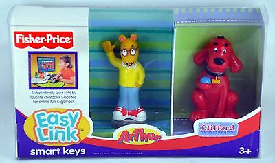 New Fisher Price Easy Link Smart Keys Arthur & Clifford the Big Red Dog 2 Keys