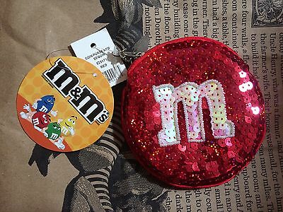 M & M Coin Purse Red Sequins