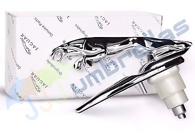 "Jaguar Leaping Cat Chrome Bonnet Motiff / Mascot 5"" Long Premium Emblem BD29644"
