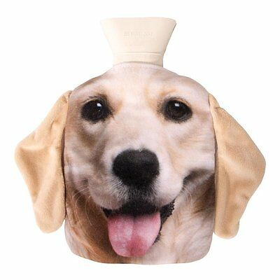 NEW Labrador Hot Water Bottle Pet Hotty With Removable Cover and Plush Ears