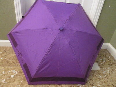 COACH HC Lock Up MINI Umbrella PURPLE IRIS NWT FREE SHIP