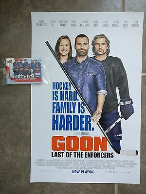 GOON LAST OF THE ENFORCERS promo poster 11x17 with BONUS Upper Deck UD card set