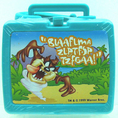 ZIPPER PULL TAZ Tasmanian DEVIL Flix TV Miniature Mini LUNCH BOX KEYCHAIN 12020