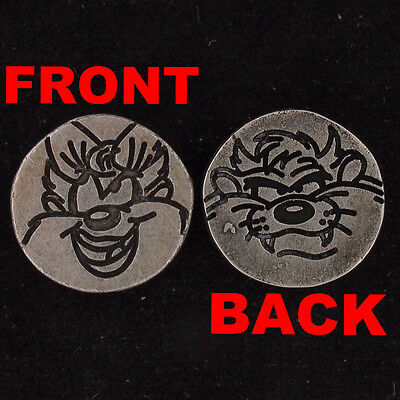 CHARM BEAD 2 SIDED Taz & She Devil WARNER BROS LOONEY TUNES Pewter WB STORE 5458