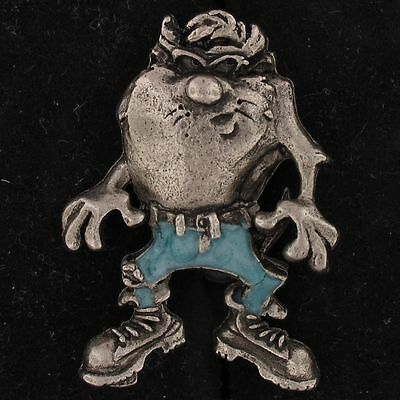 PIN Taz Devil WARNER BROS LOONEY TUNES Pewter BLUE JEANS TIE TACK WB STORE 5391