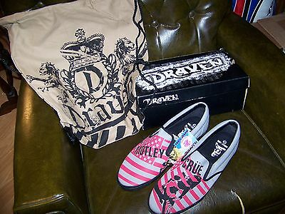 NEW Authentic MOTLEY CRUE Draven Skateboard Slip On Shoes 13 Vans & Keds Similar