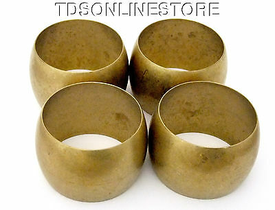 Raw Brass Domed Bracelet Bangle Blank 2 inch Package Of 4