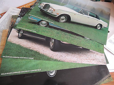 The Rarest of Rolls Royce brochure catalogue 1973 scarce Huge with 2 brochures