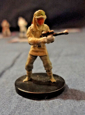 Star Wars Miniatures Game Figure with card Universe Elite Hoth trooper 5/60 2004