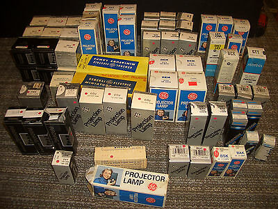 Lot of over 70 NOS Vintage Slide or Movie Projector Lamps / Bulbs
