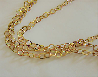 Gold Plated Chain, Oval,5mm, By the Foot