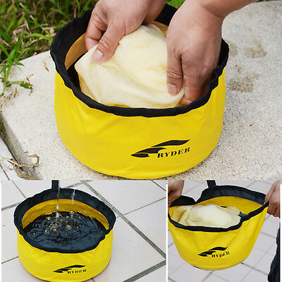 5L Outdoor Camping Hiking Folding Wash Basin Pot Bucket Travel Water Bag Sink