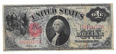 "United States 1 Dollar Large Size Note ""Short Snorter""  WW1 1917"