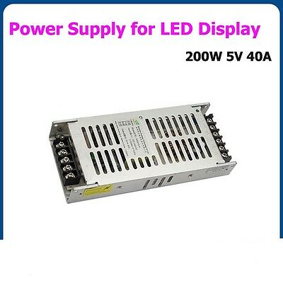 5V 40A 200W Switching Power Supply For P2.5/3/4/5/6/7.62/8/10/16/20 LED Display