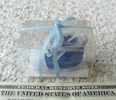 blue shoe sneaker candle (for baby shower or birthday)