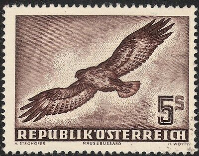 Austria 1950 5s Common Buzzard Airmail VFU