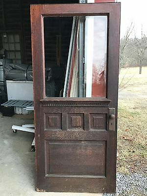 "Antique Oak Entrance Door 80"" x  36"""